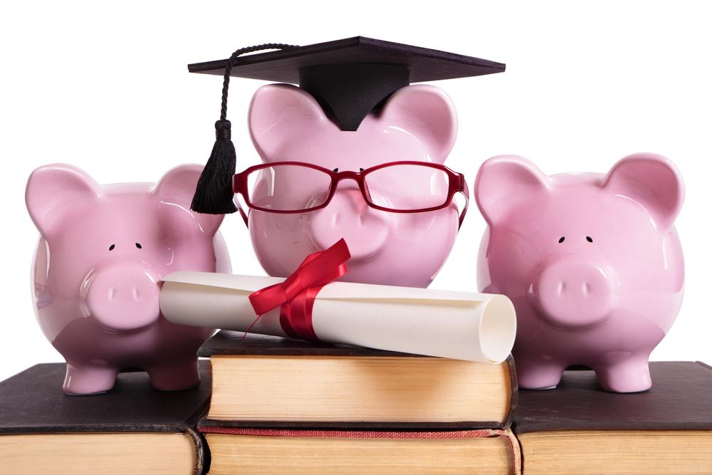 Cofres de porquinho que simbolizam economias e financiamentos